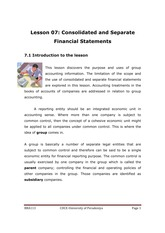 113-7 Consolidated & Separated Financial Statements