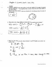 Chapter 7 Current, Ohm's Law, Etc (Exam 2 Solutions)