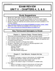 Exam Review - Chapters 4,5,6