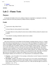 Lab 2 - Flame Tests
