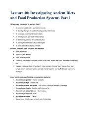 Lecture 10 - The Emergence of Food Production Part 1