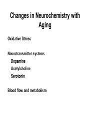 Aging and Neurochemistry