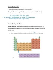 Chapter 3 - Electron Configuration