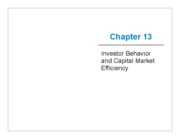 Lecture 12 Investor Behavior