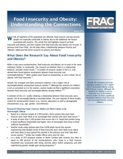 FRAC Brief on Hunger-Obesity Paradox