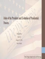 Roles of the President and Evolution of Presidential Powers Multimedia Presentation.ppt