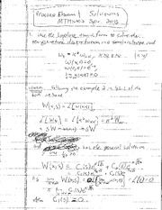 Practice Exam 1 Solution on Mathematical Methods in Science and Engineering 2