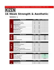 kizen training  12 week strength and fat loss program