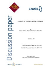 A SURVEY OF VENTURE CAPITAL RESEARCH