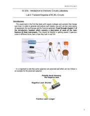 Lab 3 - Transient Response of RC and RL Circuits