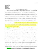 cooking essay example