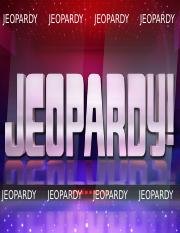 Exam 1 Jeopardy Review