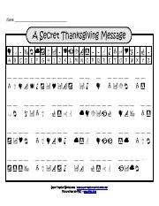 thanksgiving decode