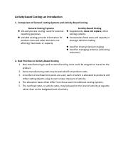 Activity-Based Costing an introduction