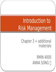 Lecture3_ch3_Introduction to Risk Management