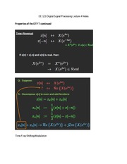 EE 123 Digital Signal Processing Lecture 4 Notes