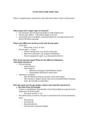 Pain Study Guide