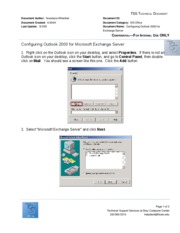 Configuring Outlook 2000 for Microsoft Exchange Server