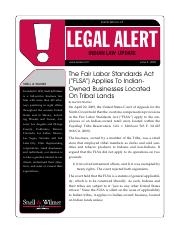 Fair Labor Standards Act Applies to Indian Owned Businesses