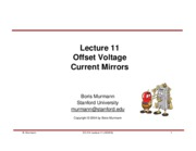 Lecture 11-Offset Voltage & Current Mirror