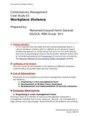 case study eslsca workplace violence This step was prompted by the debate on the study commissioned by stoa concerning the so-called echelon system,  in the case of very small earth stations,.
