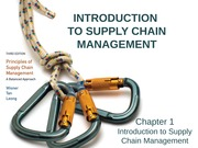 Intro to Supply Chain Management Ch 1