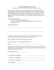 Group Ground Rules Contract Form (Original).doc