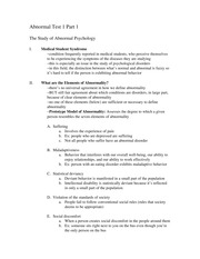 The Study of Abnormal Psychology