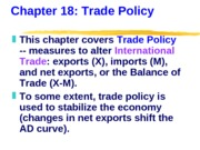 ECN 203 (18), Trade Policy