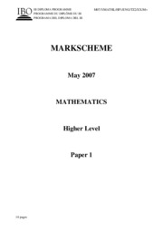 Mathematics HL - May 2007 TZ2 - P1 $