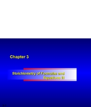 Chapter 03 - Stoichiometry and Chemical Equations Handout II