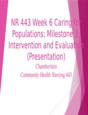 Caring for Populations Milestone 3