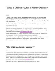 What Is Dialysis.docx