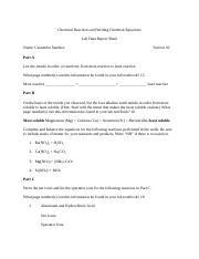 Chemical Reactions and Writing Chemical Equations Lab Data Report Sheet.docx