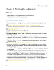 Principles of Economics -Chapter 2