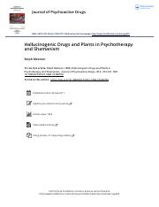 Hallucinogenic Drugs and Plants in Psychotherapy and Shamanism.pdf