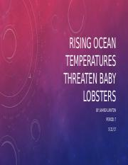 Rising ocean temperatures