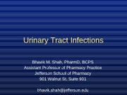 Urinary Tract Infections (UTI) -- Student (2)