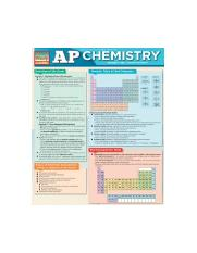 AP Chemistry Cheat Sheet