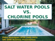 Chlorine v Salt Water Pools (1)