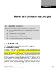 Chapter 5   Market and Environmental Analysis