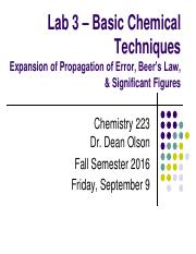 Chem 223 Lab Lecture 3 - 20160909 - DLO