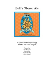 Final Project; Bell's Oberon Ale