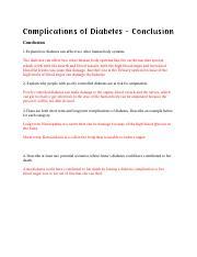 conclusión de diabetes