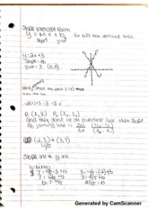 Notes on slope intercept form