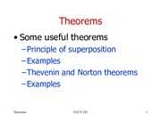 lesson 6 Theorems