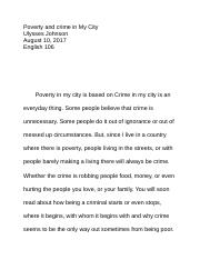 Poverty and crime in My City.docx