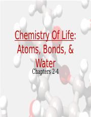 __biochemistry_notes_1_-_bonds_and_water