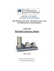 CIVE 330 Hydraulics Lab Manual - 2016
