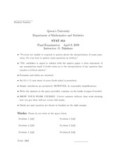 STATS 353 2009 FINAL SOLUTIONS